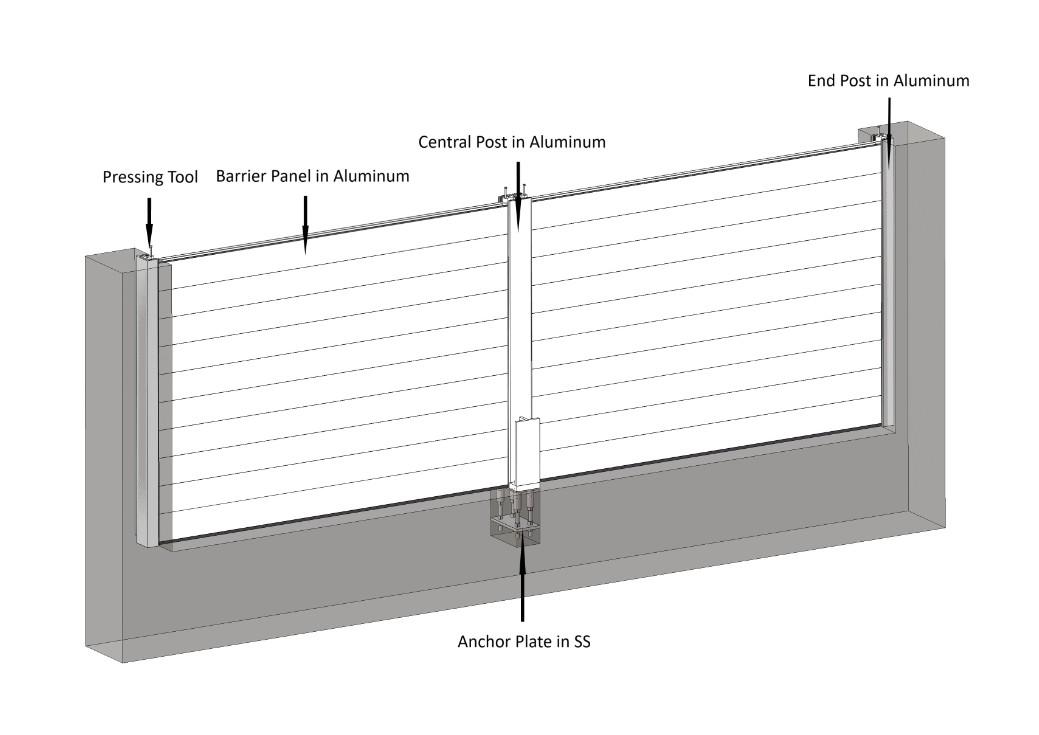 Structure of Demountable Flood Barrier